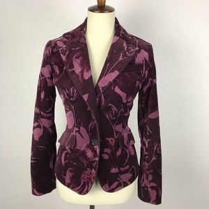 Ann Taylor Floral Cotton Stretch Jacket JKT84